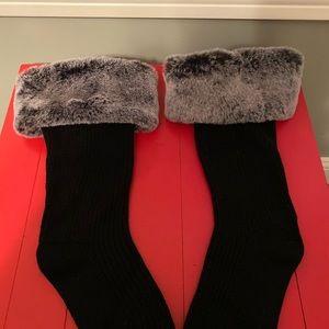 New UGG boot socks Tall faux fur cuff rain boot
